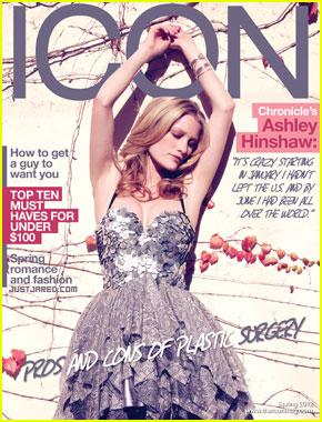 Ashley Hinshaw Covers 'Icon' Spring 2012