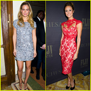 Bar Refaeli & Stacy Keibler Make It To Marchesa