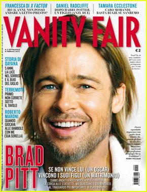 Brad Pitt Covers 'Vanity Fair Italia' February 2012