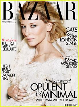 Cate Blanchett Covers 'Harper's Bazaar UK' April 2012