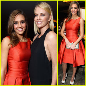 Charlize Theron & Jessica Alba: V-Day Cocktails & Conversation!
