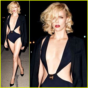 Charlize Theron: Skimpy Swimsuit for 'Vanity Fair'