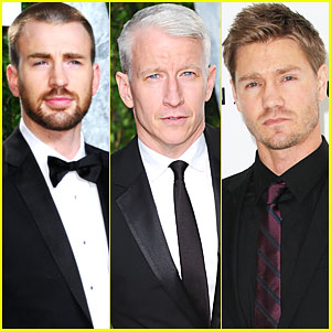 Chris Evans & Anderson Cooper - Vanity Fair Oscar Party