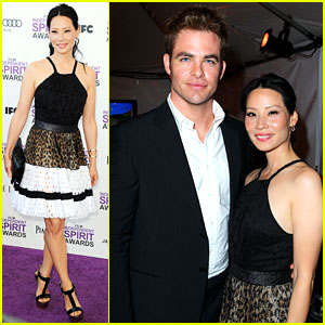 Chris Pine & Lucy Liu - Spirit Awards 2012