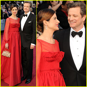Colin Firth & Livia Giuggioli - Oscars 2012 Red Carpet
