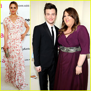 Dianna Agron & Chris Colfer - Elton John Oscar Party