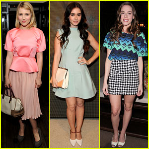 Dianna Agron & Lily Collins: Marni for H&M Launch Party!