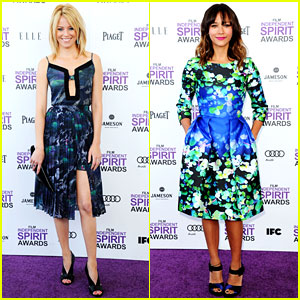 Elizabeth Banks & Rashida Jones - Spirit Awards 2012