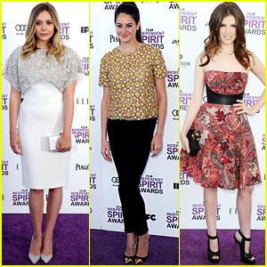 Elizabeth Olsen & Shailene Woodley - Spirit Awards 2012