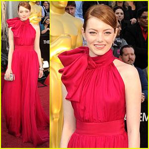 Emma Stone - Oscars 2012 Red Carpet