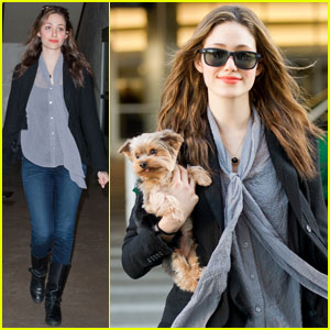 Emmy Rossum Lands at LAX With Cinnamon