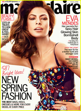 Eva Mendes Covers 'Marie Claire' March 2012