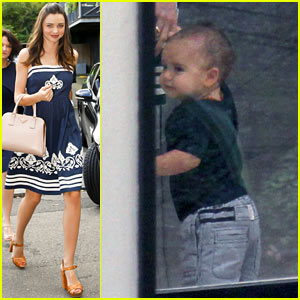 Flynn Bloom: Walking Next To Mama Miranda Kerr!