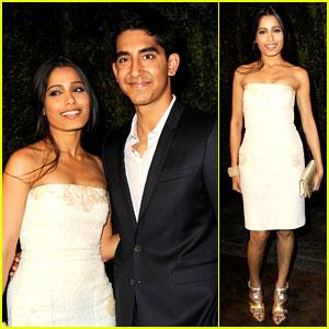 Freida Pinto & Dev Patel: Chanel Pre-Oscar Party Pair!