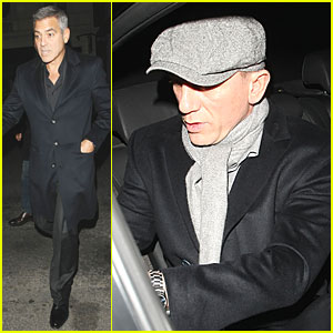 Daniel Craig & George Clooney: Night Out in London!