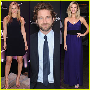 Gerard Butler & Brooklyn Decker: Weinstein Pre-Oscar Party!