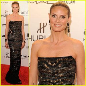 Heidi Klum: amfAR New York Gala 2012