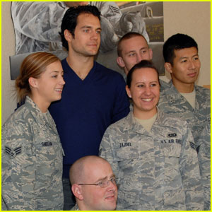 Henry Cavill Visits Edwards Air Force Base