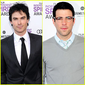 Ian Somerhalder & Zachary Quinto - Spirit Awards 2012