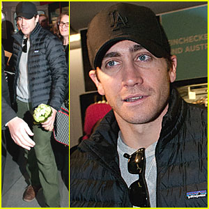 Jake Gyllenhaal Arrives in Germany for Berlin Film Fest