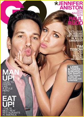 Jennifer Aniston & Paul Rudd Cover 'GQ' March 2012
