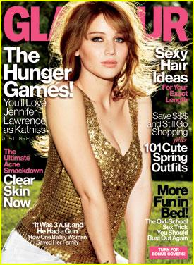 Jennifer Lawrence Covers 'Glamour' April 2012