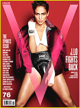 Jennifer Lopez Covers 'V' Magazine's Sports Issue