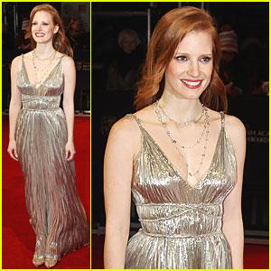 Jessica Chastain - BAFTAs 2012 Red Carpet
