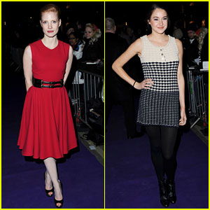 Jessica Chastain & Shailene Woodley: BAFTA Nominees Party