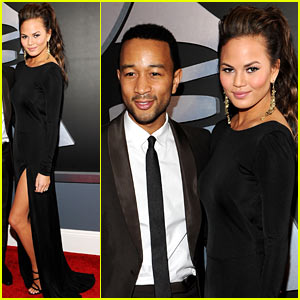 John Legend & Chrissy Teigen - Grammys 2012 Red Carpet