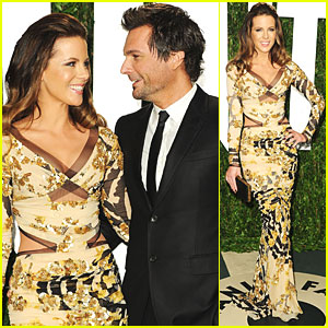 Kate Beckinsale & Len Wiseman - Vanity Fair Oscar Party