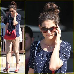 Katie Holmes Walks & Talks in Beverly Hills
