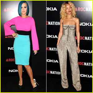 Katy Perry & Rihanna: Roc Nation Pre-Grammy Brunch