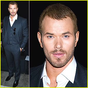 Kellan Lutz: Joseph Abboud Show at Fashion Week!