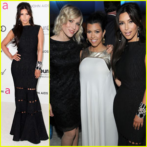 Kim & Kourtney Kardashian - Elton John Oscar Party