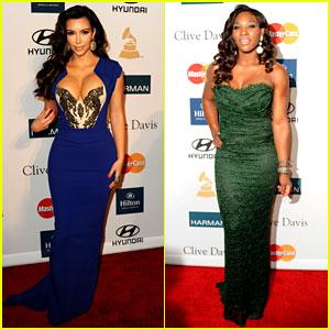 Kim Kardashian & Serena Williams: Clive Davis Party!