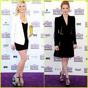 Kirsten Dunst & Jessica Chastain - Spirit Awards 2012