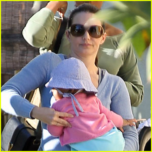 Kristin Davis Takes Baby Gemma to Lunch