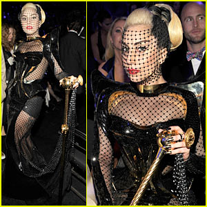 Lady Gaga - Fishnet Face for Grammys!