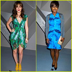 Leighton Meester: Vera Wang Fashion Show with Viola Davis!