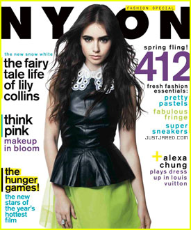 Lily Collins Covers 'Nylon' March 2012