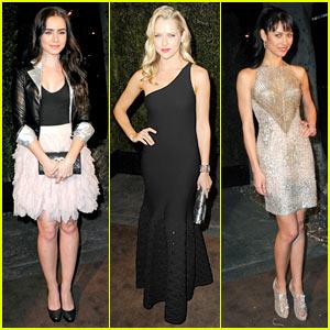Lily Collins & Teresa Palmer: Chanel Pre-Oscar Party!
