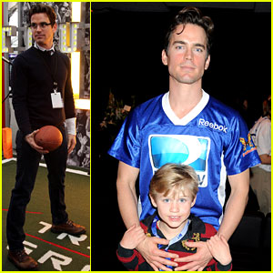 Matt Bomer: Super Bowl Events with Son Kit!