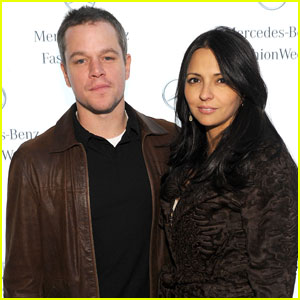 Matt Damon: Naeem Khan Fashion Show With Luciana!