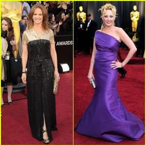 Melissa Leo & Virginia Madsen - Oscars 2012 Red Carpet