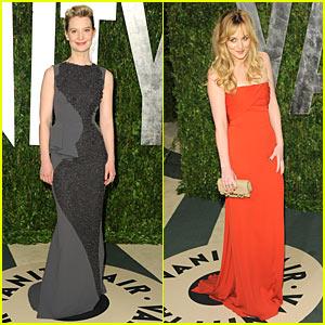 Mia Wasikowska & Dakota Johnson: Vanity Fair Oscar Party!