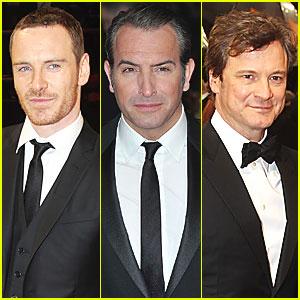 Michael Fassbender & Jean Dujardin - BAFTAs 2012 Red Carpet
