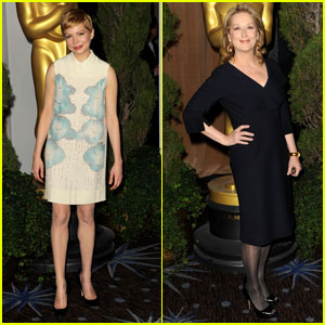 Michelle Williams & Meryl Streep: Academy Awards Nominations Luncheon