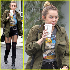 Miley Cyrus: Short Shorts at Bed Bath and Beyond!
