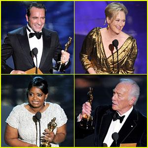 Oscars Winners List 2012!